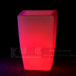 Het Licht van de plastic LEIDENE Potten van de Bloem op Potten die Pot aansteken