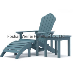 خشبيّة بلاستيكيّة [أديروندك] كرسي تثبيت مع [أتّومن] و [تبل غردن] [أديروندك] كرسي تثبيت حديقة أثاث لازم [غردن شير] كرسي ذو ذراعين