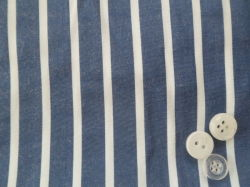 Las prendas de vestir la camiseta de algodón poliéster tela del vestido de rayas Chambray