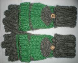 Nuovi guanti in lana Mittens da uomo a maglia senza dita-Z050
