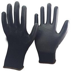 Schwarze Nylonshell PU tauchte industrielle Sicherheits-Produkt-Handschuh ein