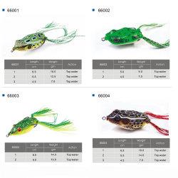 Envio gratuito por grosso de plástico macio Frog Pesca com isco vivo Lure