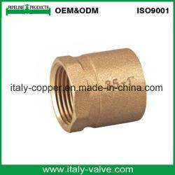Reductor de tubos de bronce de calidad personalizada pezón (AV-QT-1005)