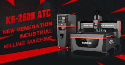 Macchina per incidere resistente di CNC Router/CNC della tagliatrice di CNC di Atc di Sdk K6-2500 che elabora l'acrilico di alluminio del MDF del rame