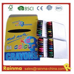 Calidad y lápices de cera de color auditados Social 64pcs