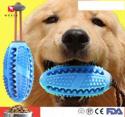 Venta caliente resistente a la mordedura de perro Cuidado Dental Cepillo de Dientes de juguete de dispensación de alimentos