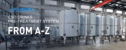 مشروبات كحولية CSD نظام المعالجة المسبقة مع آلة خلط المشروبات العالية
