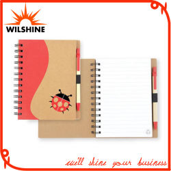 文房具の演習帳(SNB111)のためのペンが付いている螺線形ノート日記
