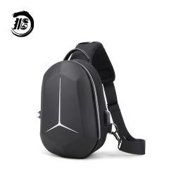 Sling Backpack para homens Crossbody Saco de ombro com USB Daypack Casual Preto impermeável