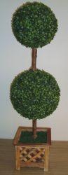 나무 냄비에 스틱 포함 그래스볼 2개(P11705)