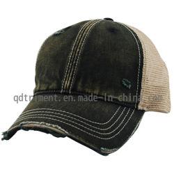 Le meulage Vintage lavé maille armure sergé camionneur balle de baseball Hat0863-1 (TM)