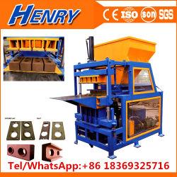La technologie écologique4-14RH Sol argileux hydraulique de verrouillage automatique machine à fabriquer des briques en Zambie du meilleur prix