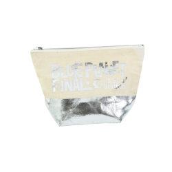 Galpão de algodão as mulheres de prata grossista portátil Makeup organizador do curso de Higiene Pessoal Wc saco cosméticos