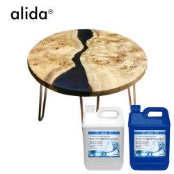 Super Crystal Clear Resina epóxida 15kg Kit para mesa de refeições de café