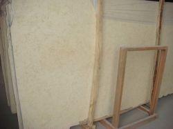 La tuile de dalle de marbre beige ensoleillée pour les comptoirs des revêtements de sol