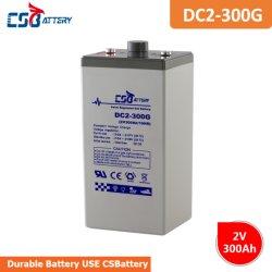 Csbattery 2V 300ah電気自動車のためのバックアップエネルギーゲル電池はまたはまたは電力か照明またはゴルフ車力供給する