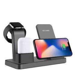 Bluetooth EarbudsのAppleの腕時計のiPhoneのためのチーの標準の無線速い充満立場の充電器3in1の無線充電器