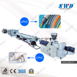 Le plastique PVC et CPVC/UPVC l'eau et canalisation électrique/Tube (l'extrudeuse, transporter hors tension, la coupe de bobinage, belling)/d'EXTRUSION Extrusion rendant la production de la machine de ligne