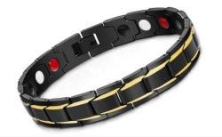 Les hommes noirs de la santé bracelets magnétiques Bracelets & H Power Bracelet à breloque en acier inoxydable de Bijoux pour hommes