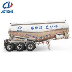 Buon euro tipo alimentazione/polvere/rimorchio di alluminio all'ingrosso di prezzi 3axles 45cbm del serbatoio del cemento da vendere