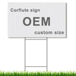Du Coroplast/Corflute/signe en plastique ondulé/PP pour la publicité, l'élection, l'affichage, d'avertissement, le trafic et l'immobilier