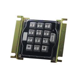 Zink-Legierungs-Eintrag-Systems-Digital-Tür-Verschluss-Tastaturblock der Qualitäts-13keys mit Lautstärkeregler-Taste