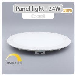 Voyant de panneau à LED ronde 6W 12W 18W 24W Lampe LED pour panneau d'éclairage de plafond vers le bas de panneau à LED de lumière