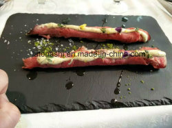 Scheda di pietra del piatto/formaggio del cassetto di servizio ristoro/pranzo dell'ardesia/ardesia sottobicchiere/degli articoli per la tavola