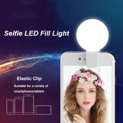 Amazônia Venda Quente presente de promoção Recarregue Mini-Luz de enchimento de LED externo do Telefone móvel encha o flash de luz LED de beleza Selfie Anel de Luz