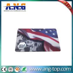 Milieu solide en PVC transparent Carte à puce RFID UHF