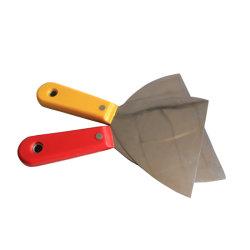 C-06構築の装飾のペンキ手のツールの倍の小片のプラスチックハンドルのパテナイフ