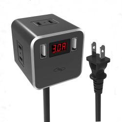 Dernière conception Chargeur USB d'affichage numérique AC Prise pour la charge de téléphone mobile