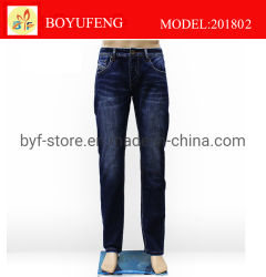 Latest-Design New-Style Regular-Straight-a-Long Boy Jeans para hombres (201802)