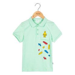Overhemd van het Polo van de Kokers van de aangepaste Jongen Van uitstekende kwaliteit het Afgedrukte Korte