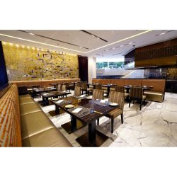 Malasia moderno restaurante del hotel mobiliario de madera mesa de comedor