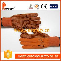 Orange Baumwolle mit Kurbelgehäuse-Belüftung punktierten Handschutz-Handschuhen