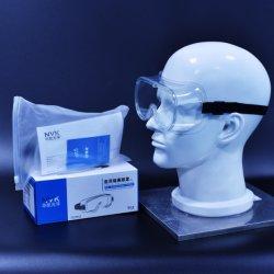 Ce FR166/la norme ANSI Z87.1 UL/FDA Paquet de commerce de détail enregistré anti brouillard anti éclaboussure de protection médicale résistant aux impacts Goggle Masque d'Isolation de protection des yeux Lunettes de sécurité