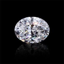 프로모션 가격 정의 화이트 컬러 오벌 컷 모이스산라이트 다이아몬드 루즈 반지 메이킹 보석과 같은 다이아몬드
