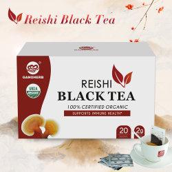 Großhandel Bio Reishi Pilz Extrakt Schwarzen Tee Blätter