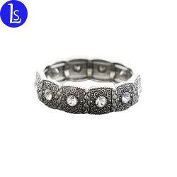 Настраиваемые цинкового сплава старинной серебряный позолоченный Bangle ползунки браслет для женщин