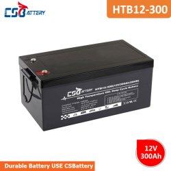 Csbattery 12V300AH recargable, batería de gel de ciclo profundo para Solar Fuente de alimentación UPS fábrica China