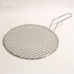 Стальной проволочной сеткой гриля для барбекю барбекю Net с помощью рукоятки