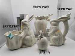 Aardewerk Konijn Animal Wholesale keramische tafel Top Decoratieve hand geschilderde Tabletopterra-Cotta Planater Porselein Pot Home Decoratie Stoneware Bloemvaas