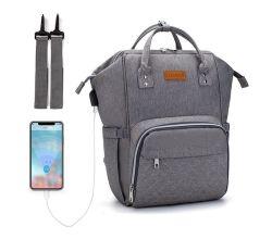 多機能 Businss Travel 屋外ポータブルバックパックベビーナッピー交換ポータブル USB 充電ポート付きミイラおむつ袋