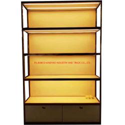 CY102-China ha prodotto su misura moderno design struttura in metallo acrilico legno Supermarket Scaffale espositore per mobili domestici armadio di archiviazione