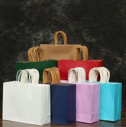 Горячие продажи коричневые крафт бумаги Подарочные сумки с ручками для покупки, подарок, Товары, Розничная торговля, вечеринка в пользу, Подарочные сумки, сумки для малого бизнеса