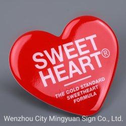 접착성 고품질 에폭시 수지 스티커 인쇄 빨간 사랑 로고 스티커 레테르를 붙이십시오