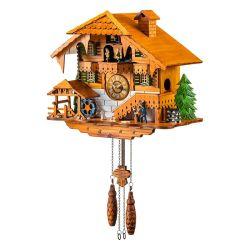 Relógio Cuco de quartzo de madeira com leitor de Dança e movendo Waterwheel