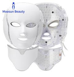 Luz de LED de 7 Cores Foto máscara facial de terapia para acne borbulhas extracção reduzir grandes poros