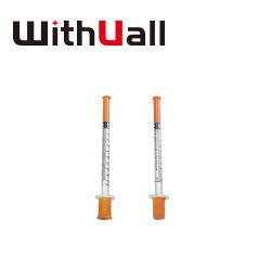 Safety Professional Hoge kwaliteit met vaste naald u-100 u-40 0,5 ml/1 ml. Insulinespuit